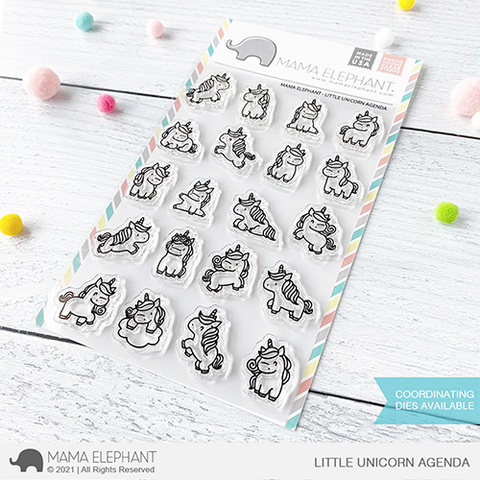 MAMA ELEPHANT: Little Unicorn Agenda | Stamp