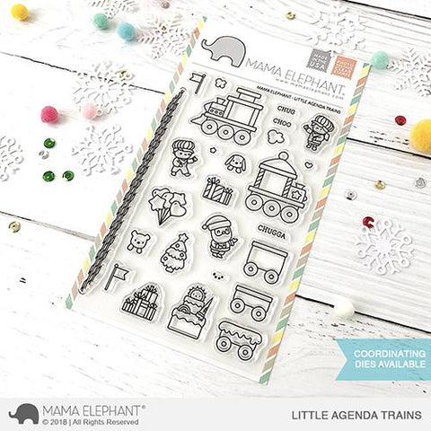 MAMA ELEPHANT: Little Agenda Trains