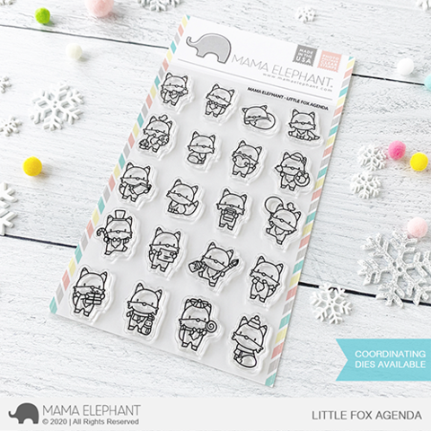MAMA ELEPHANT: Little Fox Agenda | Stamp