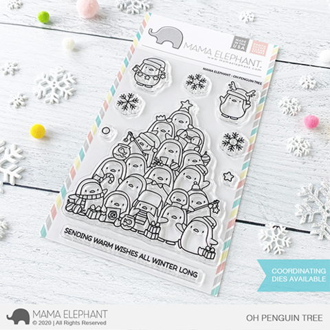 MAMA ELEPHANT: Oh Penguin Tree | Stamp