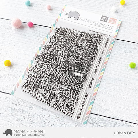 MAMA ELEPHANT: Urban City | Stamp