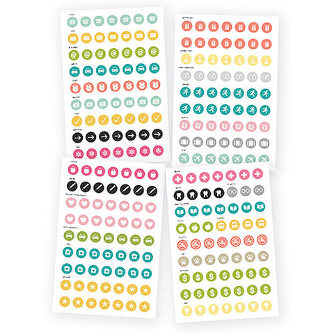 SIMPLE STORIES: CARPE DIEM Original Calendar Stickers