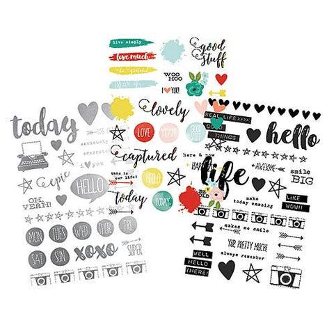 SIMPLE STORIES: Life In Color Clear Stickers