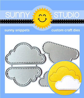 SUNNY STUDIO: Fluffy Clouds Sunny Snippets