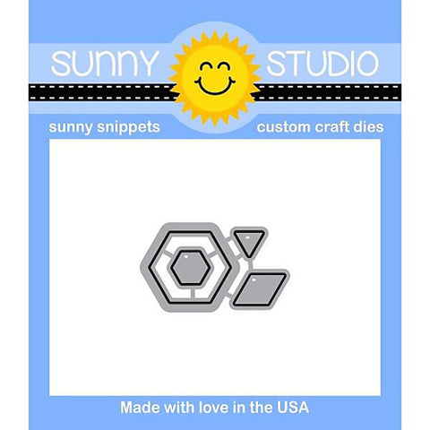 SUNNY STUDIO: Quilted Hexagons Sunny Snippets