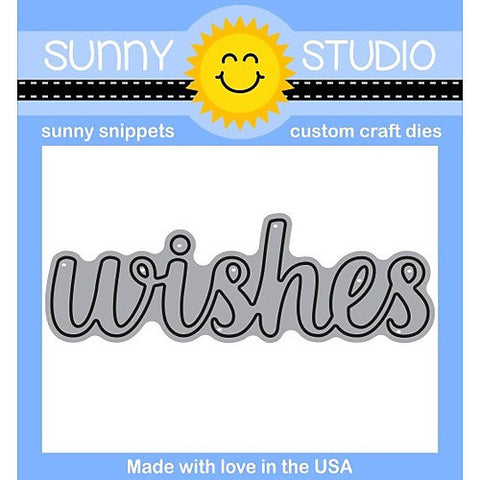 SUNNY STUDIO: Wishes Word Sunny Snippets
