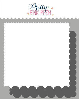 PRETTY PINK POSH:  Stencil | Scallop Edges 2PK