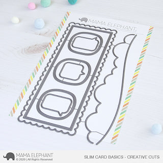 MAMA ELEPHANT: Slim Card Basics | Creative Cuts