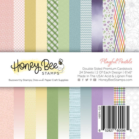 "HONEY BEE STAMPS: Playful Pastels | 6"" x 6"" Paper Pad"
