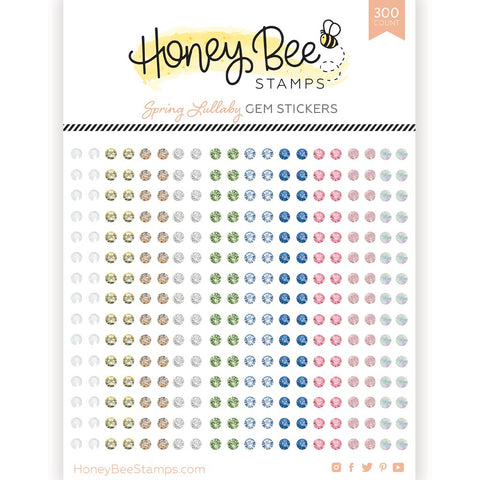 HONEY BEE STAMPS: Spring Lullaby Gem Stickers | 300 Count