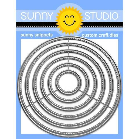 SUNNY STUDIO: Stitched Circles: Large | Sunny Snippets
