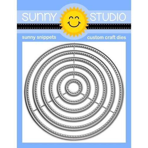 SUNNY STUDIO: Stitched Circles: Small | Sunny Snippets