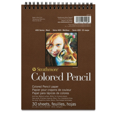 "STRATHMORE: Colored Pencil Paper Pad 400 Series 6""x8"""