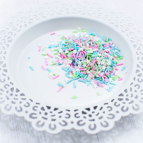 PRETTY PINK POSH:  Clay Confetti | Sugar and Spice