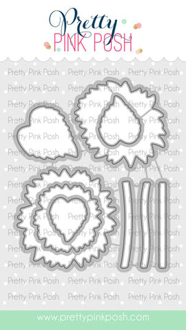 PRETTY PINK POSH:  Sunflowers Die Set