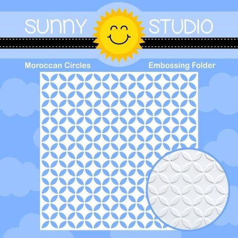 SUNNY STUDIO: Moroccan Circles Embossing Folder