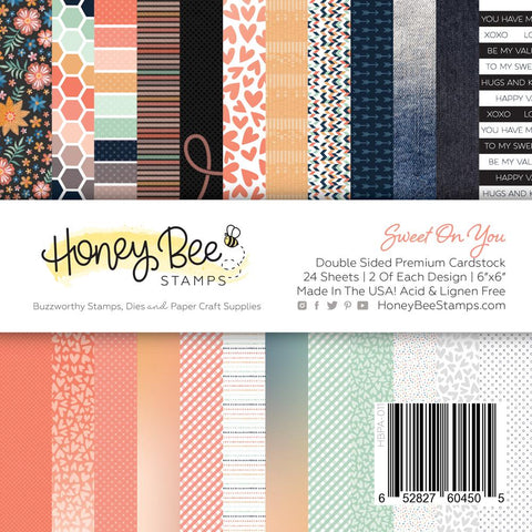 "HONEY BEE STAMPS: Sweet On You | 6"" x 6"" Paper Pad"
