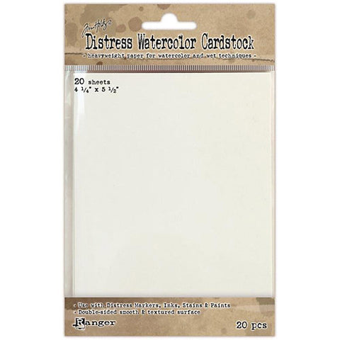 "TIM HOLTZ: Distress Watercolor Cardstock 20/pkg (4.25""X5.5"")"