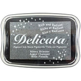 Pigment Ink Pad- Delicata Silvery Shimmer