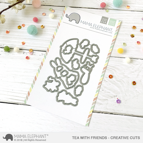 MAMA ELEPHANT: Tea With Friends Creative Cuts