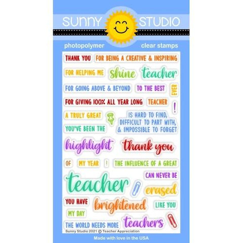 SUNNY STUDIO: Teacher Appreciation | Stamp