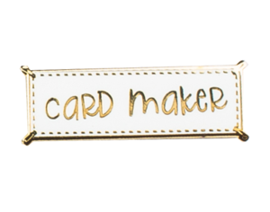 THE GRAY MUSE:  Enamel Pin - Card Maker