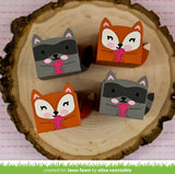 LAWN FAWN: Tiny Gift Box Raccoon and Fox Add-On Lawn Cuts Die