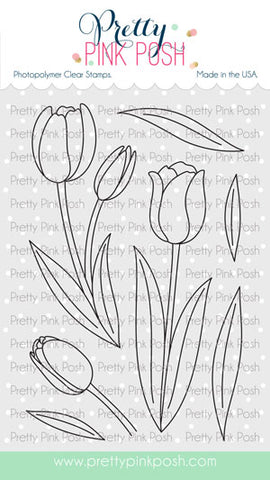 PRETTY PINK POSH:  Tulips | Stamp