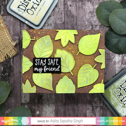 Waffle Flower Safe at Home Sentiments Stamp Set This Set is Full of Heartfelt Messages Meant to Lift up and Comfort.