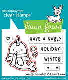 LAWN FAWN: Winter Narwhal