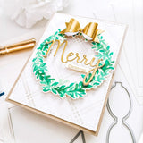 PINK FRESH STUDIO: Overlapping Leafy Wreath | Layered Stencils
