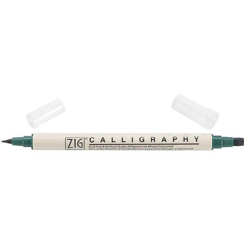ZIG: Calligraphy Marker (Hunter Green)