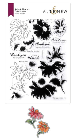 ALTENEW: Build-A-Flower: Coneflower Layering | Stamp & Die Set