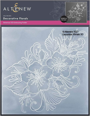 ALTENEW: Decorative Florals | 3D Embossing Folder