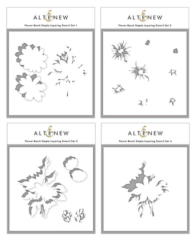 ALTENEW: Flower Bunch | Layering Stencils (4 PK)