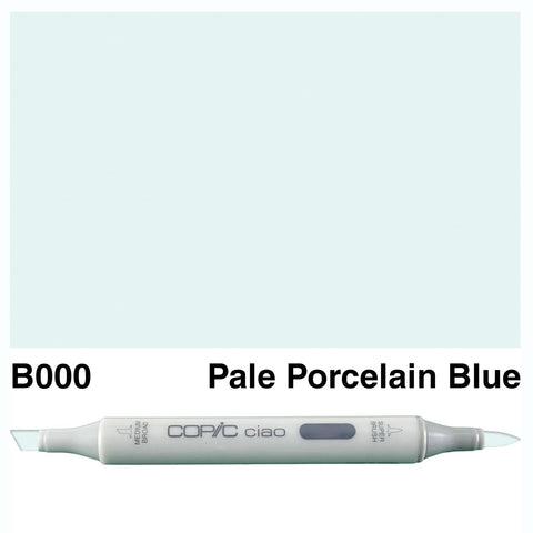 COPIC: Ciao Marker B000 (Pale Porcelain Blue) ORMD