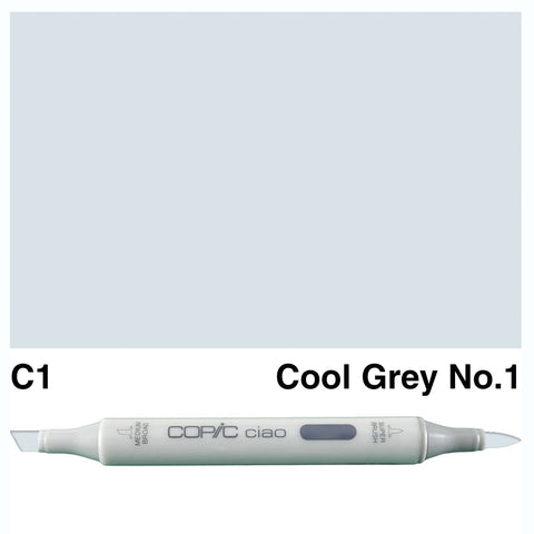 COPIC: Ciao Marker C1 (Cool Gray No. 1) ORMD