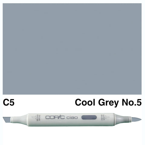 COPIC: Ciao Marker C5 (Cool Gray No. 5) ORMD