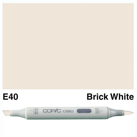 COPIC: Ciao Marker E40 (Brick White) ORMD