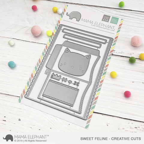 MAMA ELEPHANT: Sweet Feline Creative Cuts