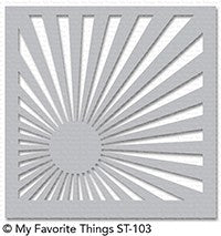 MFT STAMPS: Stencil - Sunrise Radiating Rays
