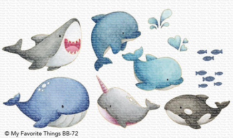 MFT STAMPS: BB Friends with Fins