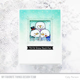 MFT STAMPS: Stencil - Snowfall Vertical (Card Sized)