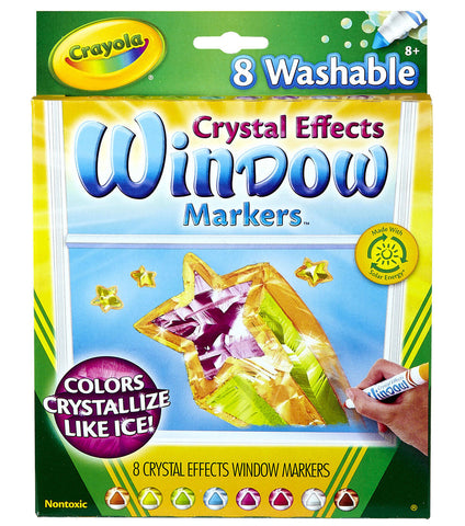CRAYOLA: Markers | Crystal Effects For Windows | 8 Count