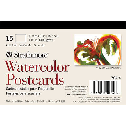STRATHMORE: Watercolor Postcards 15pk
