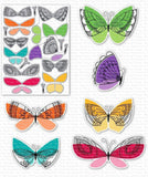 MFT STAMPS: Brilliant Butterflies | Stamp