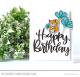 MFT STAMPS: Happy Birthday Script Die-namics