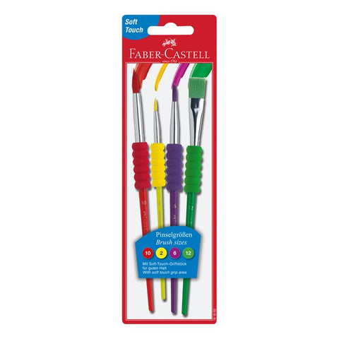 FABER CASTELL: Soft Grip Brushes | 4 Count