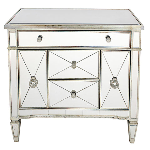 Mirrored Antique Dresser Nightstand