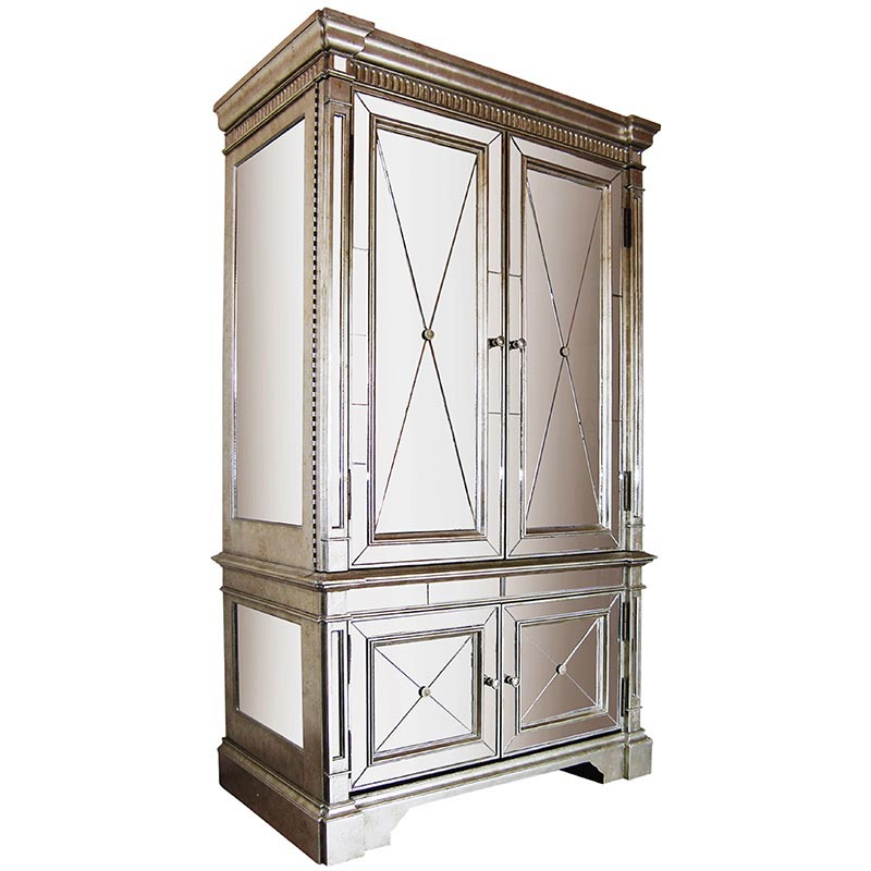 Mirrored Antique Cabinet